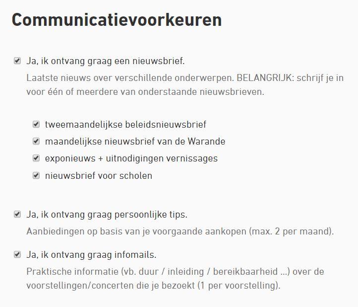 communicatievoorkeuren